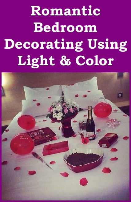 romantic bedroom decorating using light and color