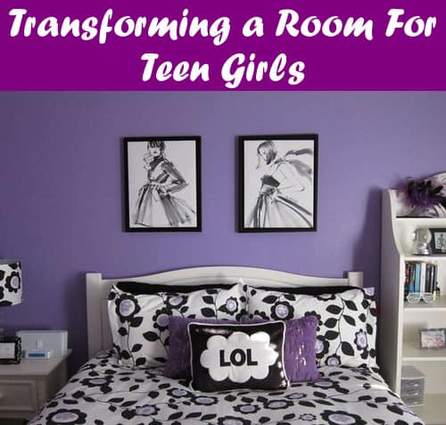 Transform a room for teen girls bedroom